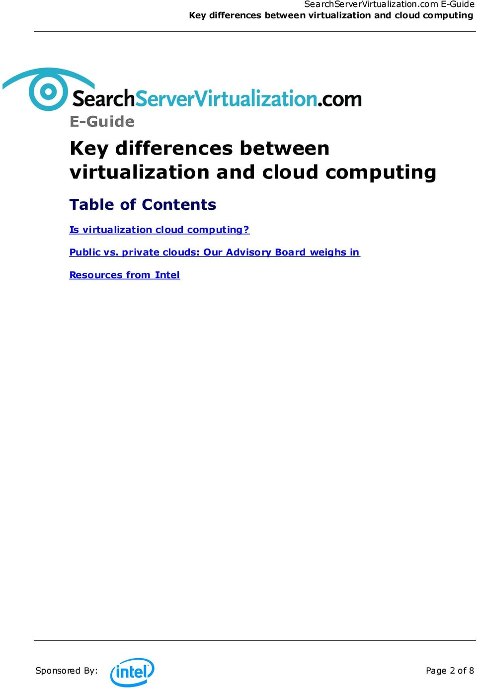 cloud computing? Public vs.