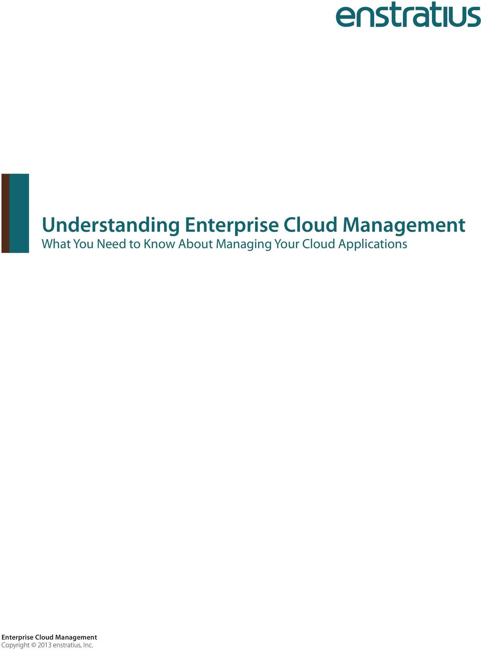 About Managing Your Cloud