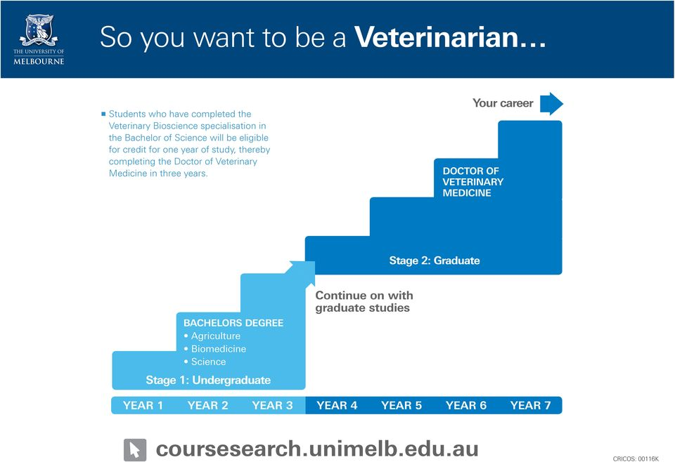 study, thereby completing the Doctor of Veterinary Medicine in three years.