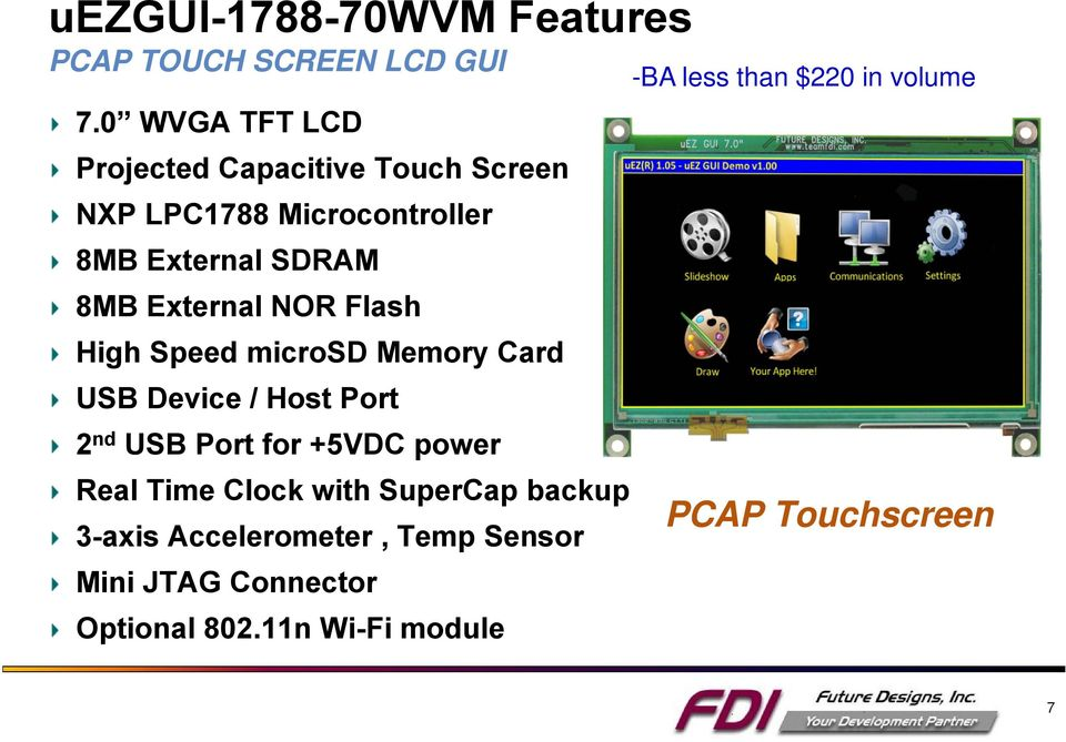 External NOR Flash High Speed microsd Memory Card USB Device / Host Port 2 nd USB Port for +5VDC power