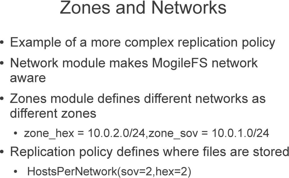 networks as different zones zone_hex = 10