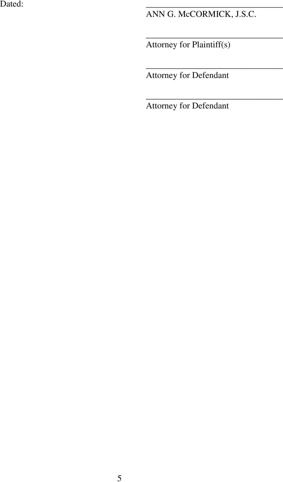 Plaintiff(s) Attorney for