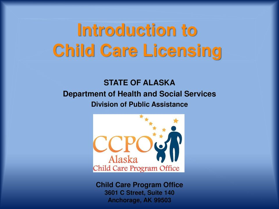 Division of Public Assistance Child Care Program