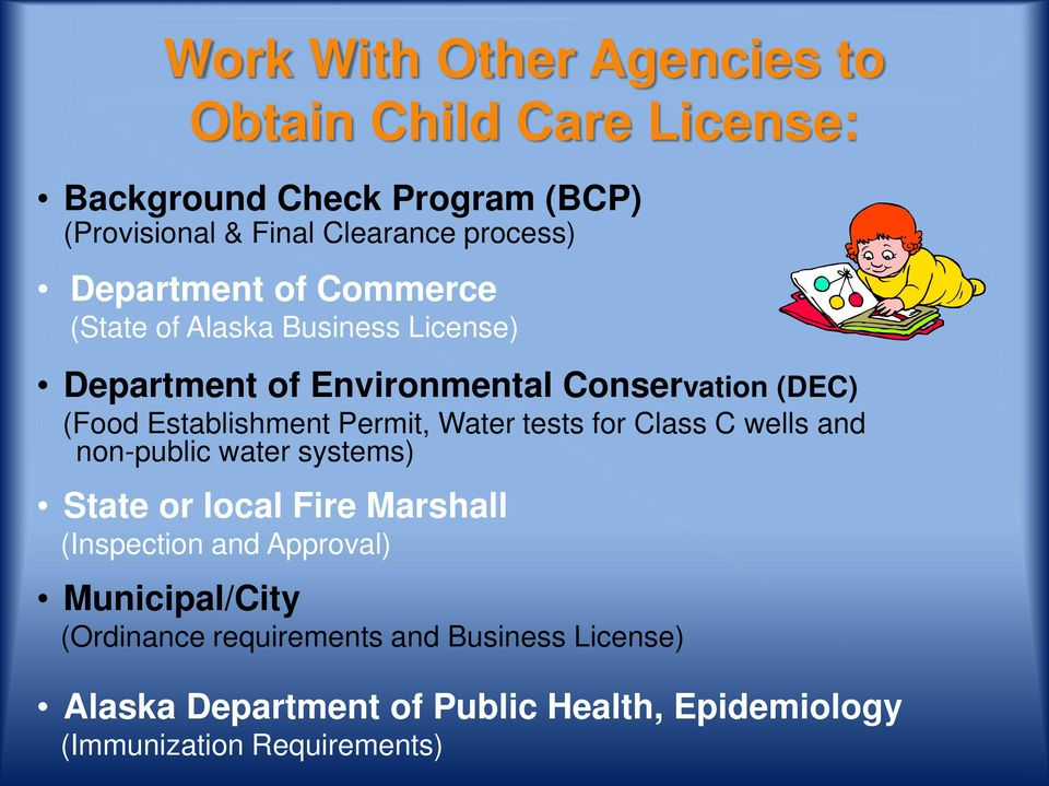 Permit, Water tests for Class C wells and non-public water systems) State or local Fire Marshall (Inspection and Approval)