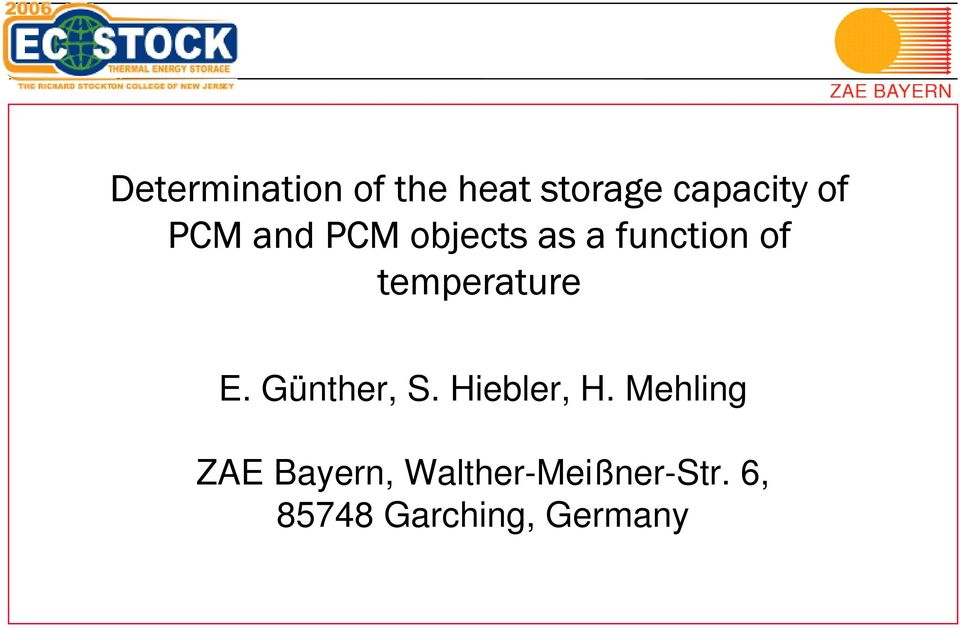 temperature E. Günther, S. Hiebler, H.