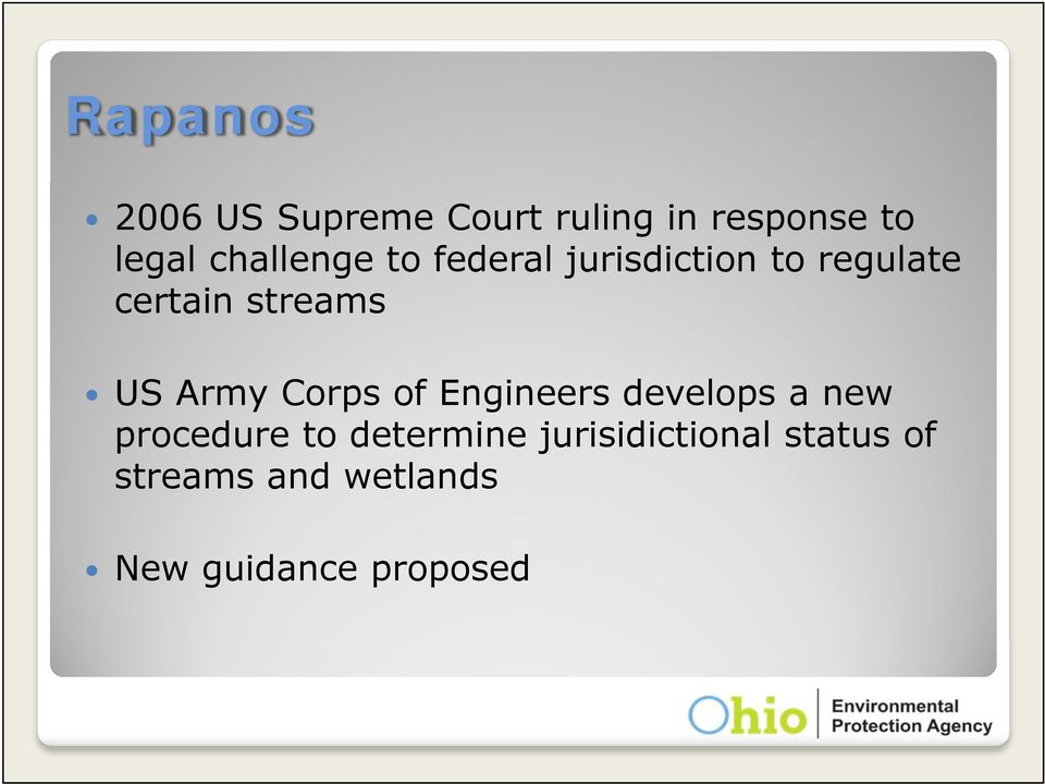 US Army Corps of Engineers develops a new procedure to