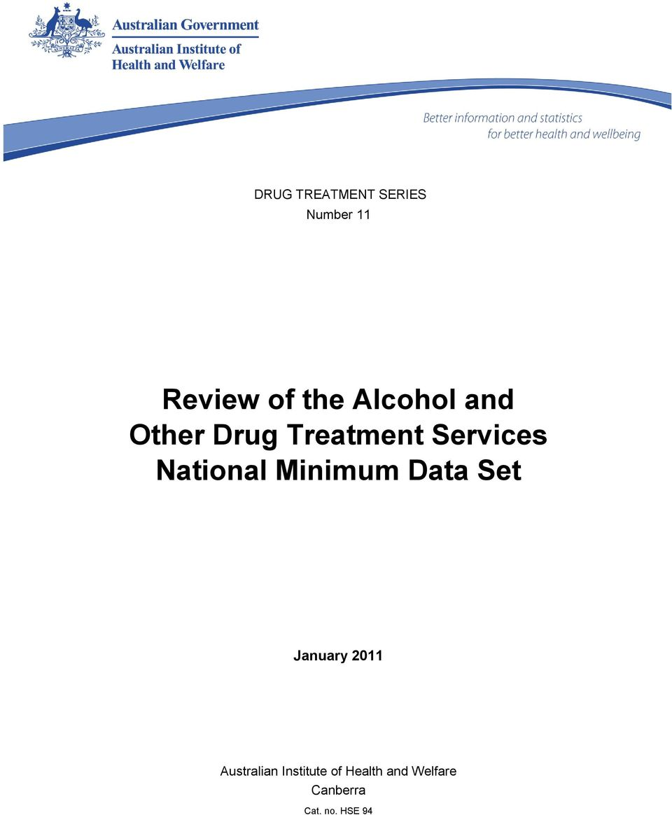 National Minimum Data Set January 2011