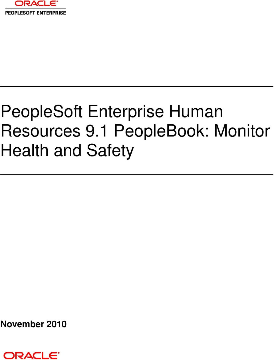 1 PeopleBook: Monitor