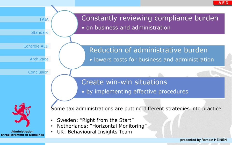 by implementing effective procedures Some tax administrations are putting different strategies
