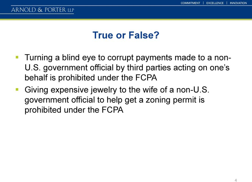 under the FCPA Giving expensi