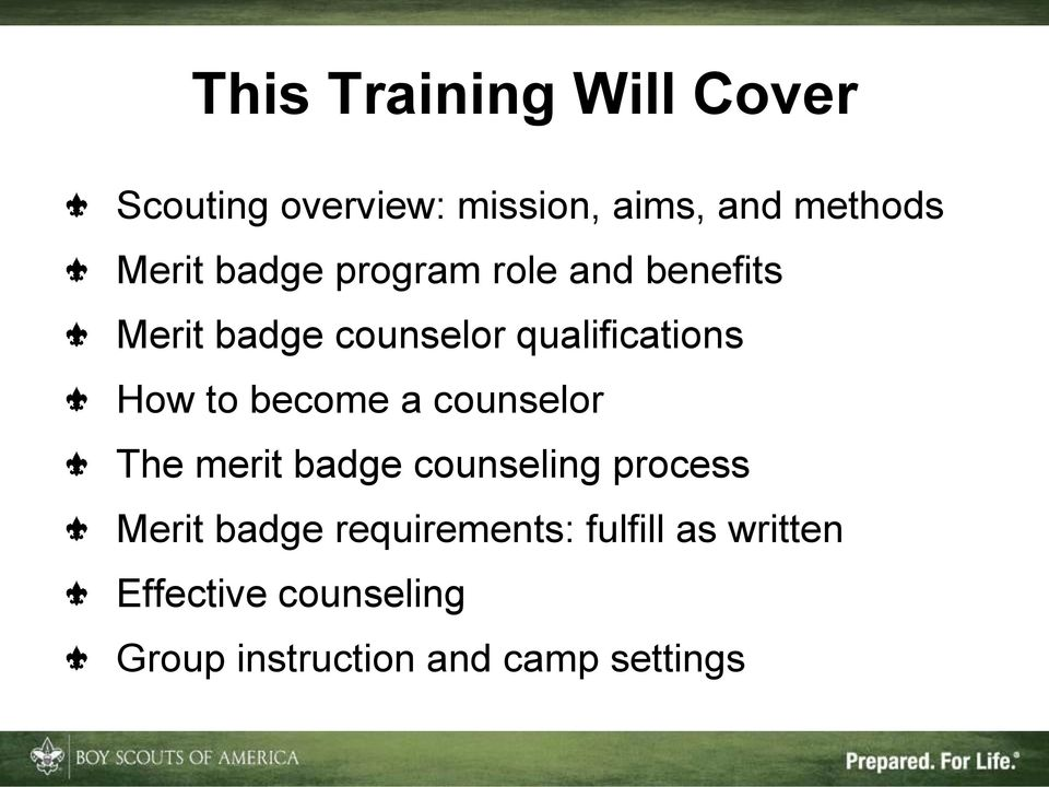 become a counselor The merit badge counseling process Merit badge