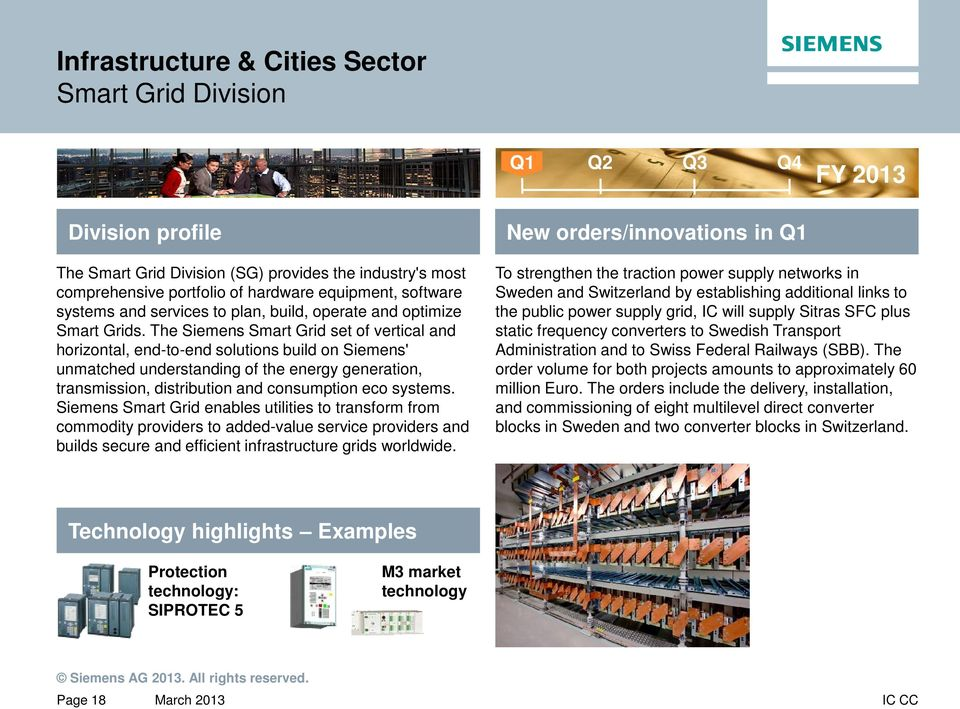 The Siemens Smart Grid set of vertical and horizontal, end-to-end solutions build on Siemens' unmatched understanding of the energy generation, transmission, distribution and consumption eco systems.