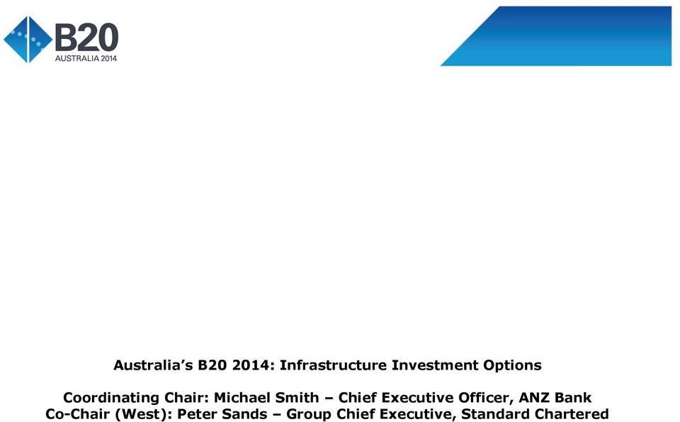 Executive Officer, ANZ Bank Co-Chair (West):