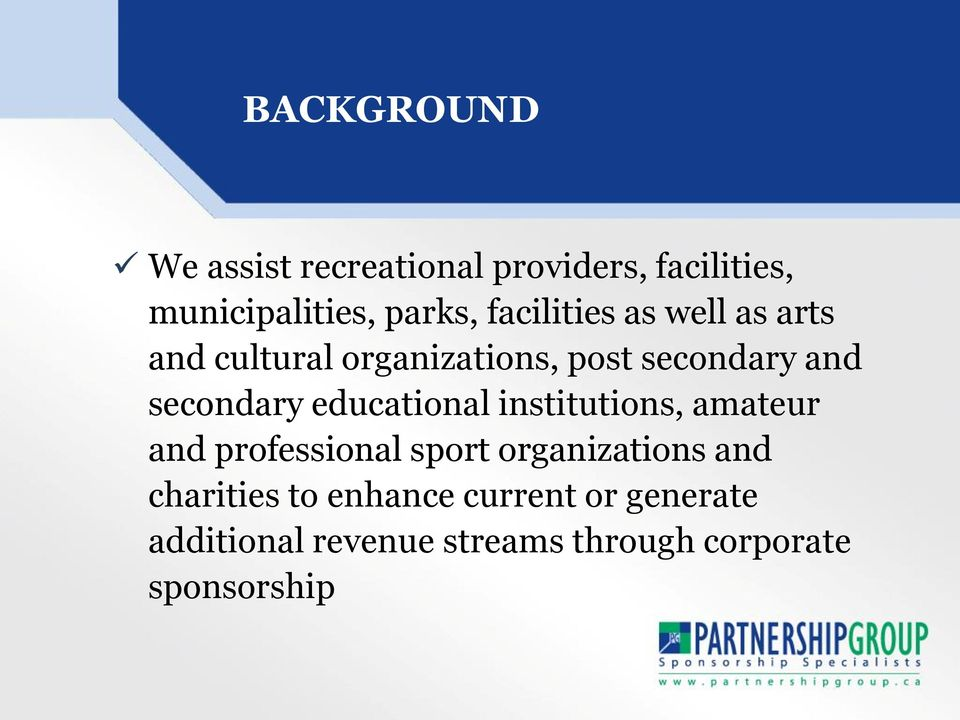 educational institutions, amateur and professional sport organizations and