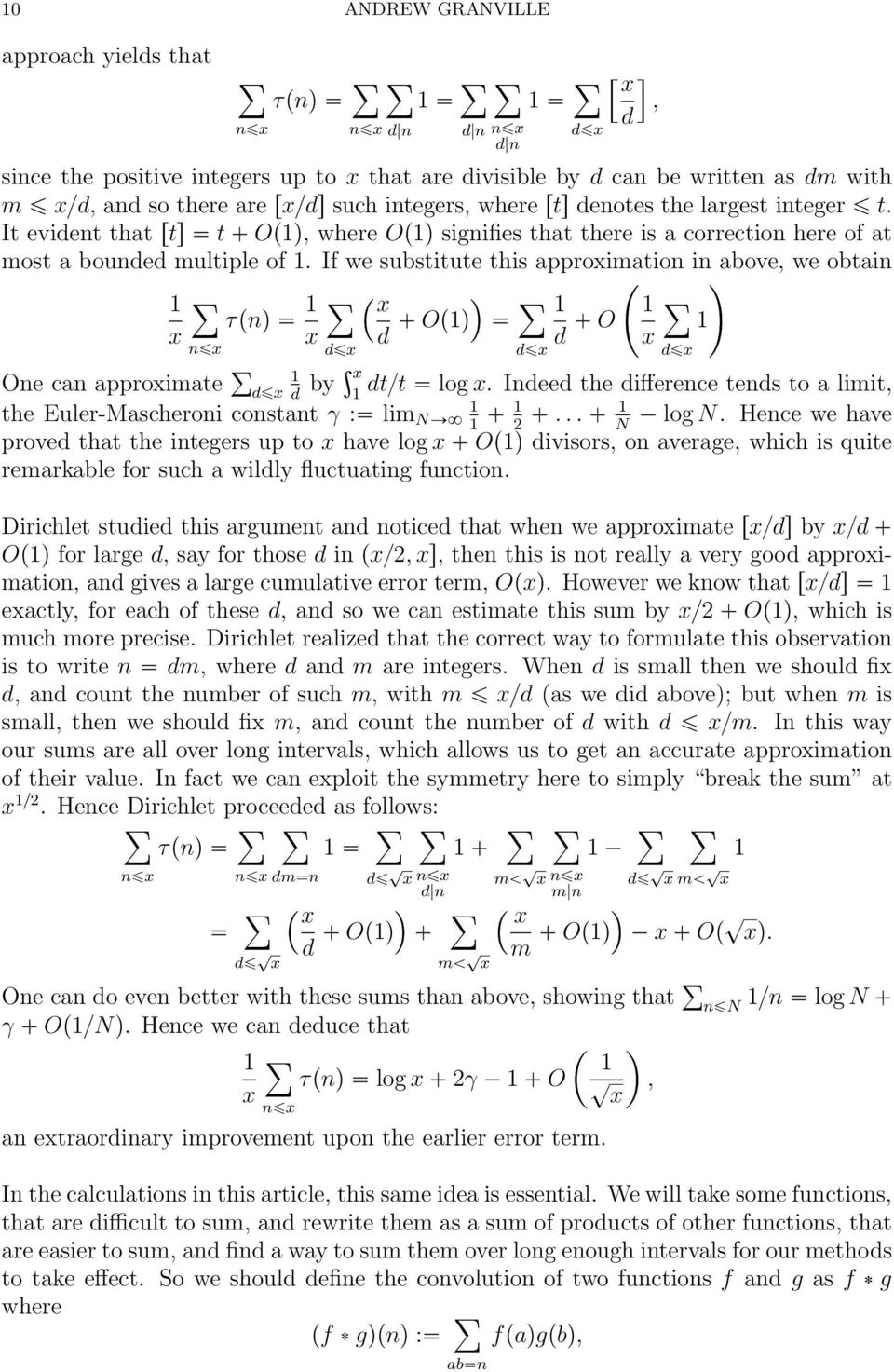 If we substitute this approximatio i above, we obtai τpq x Opq O x x d d x x dx ³ dx dx Oe ca approximate dx by x dt{t log x.