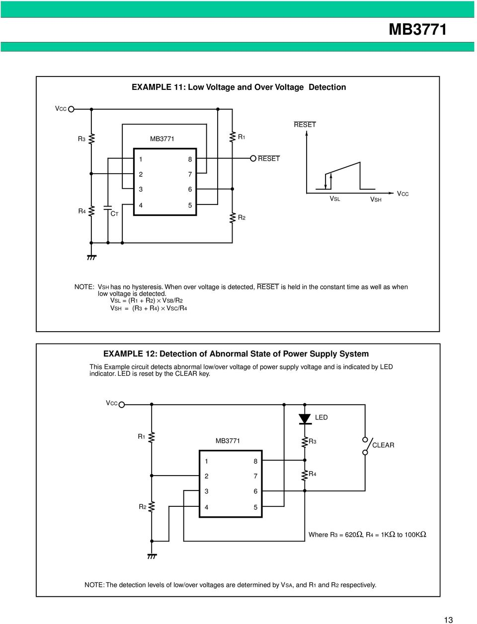 Mb3771 Assp Power Supply Monitor Ds E Fujitsu 12v Switching Car Psu By Uc3843 Circuit Wiring Diagrams Vsl R Vsb Vsh