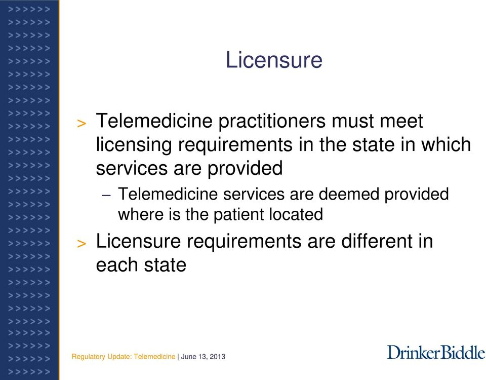 Telemedicine services are deemed provided where is the