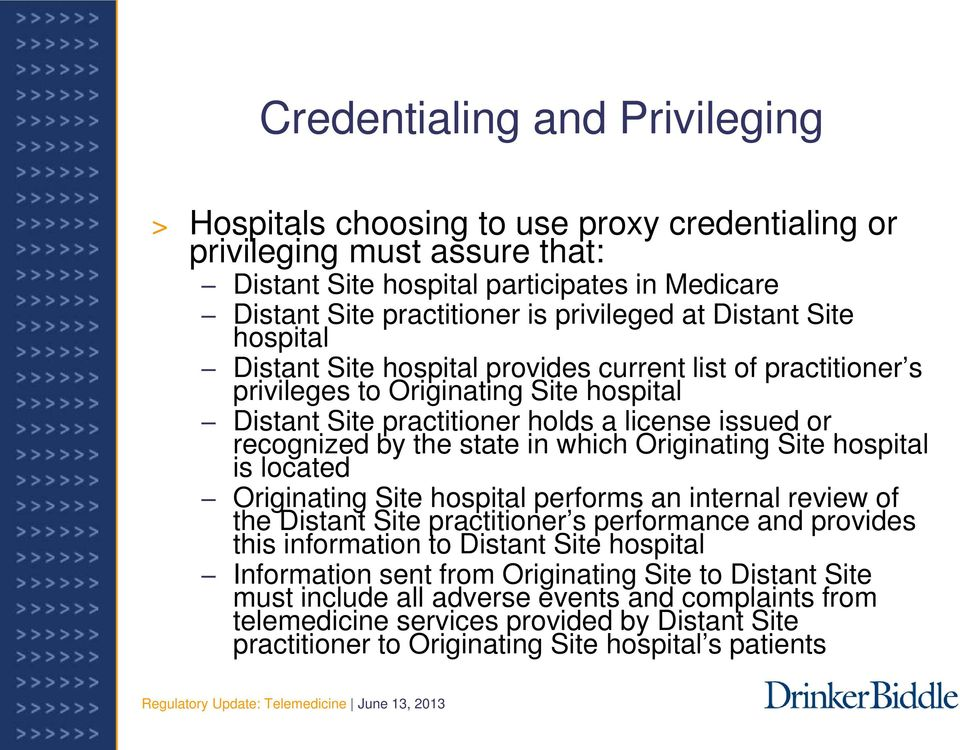 state in which Originating Site hospital is located Originating Site hospital performs an internal review of the Distant Site practitioner s performance and provides this information to Distant Site