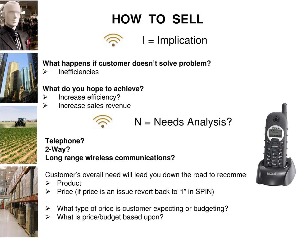 Long range wireless communications? N = Needs Analysis?