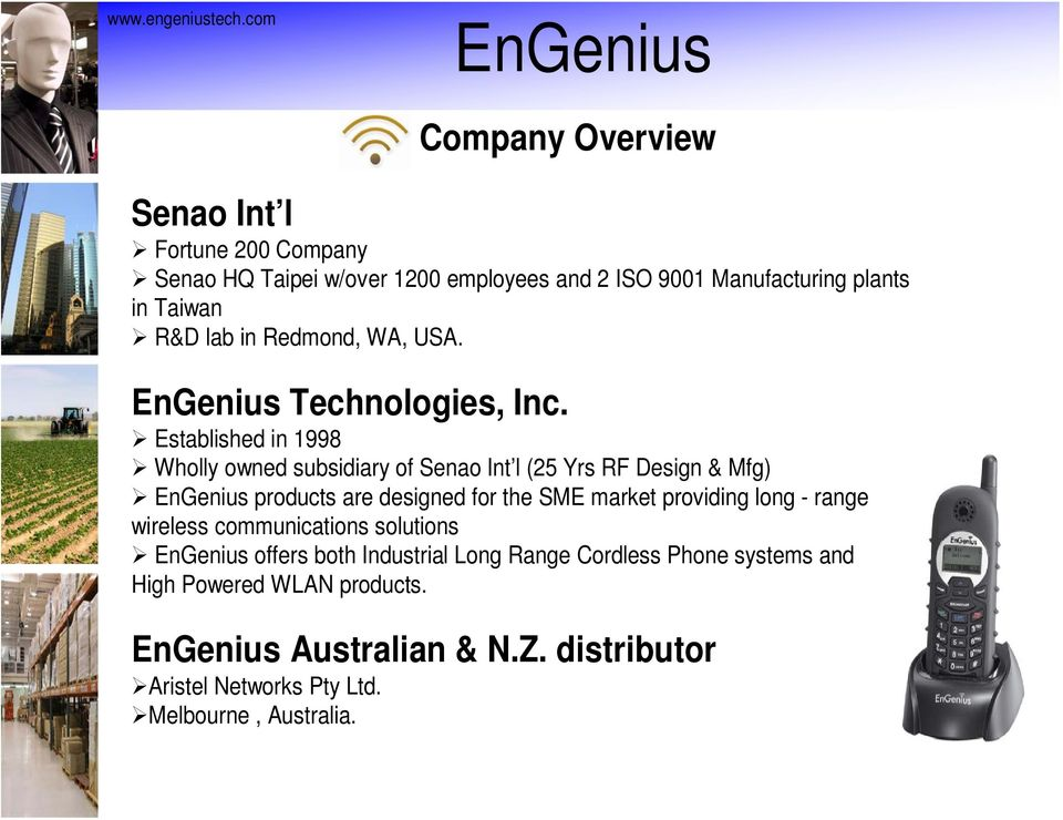 R&D lab in Redmond, WA, USA. EnGenius Technologies, Inc.