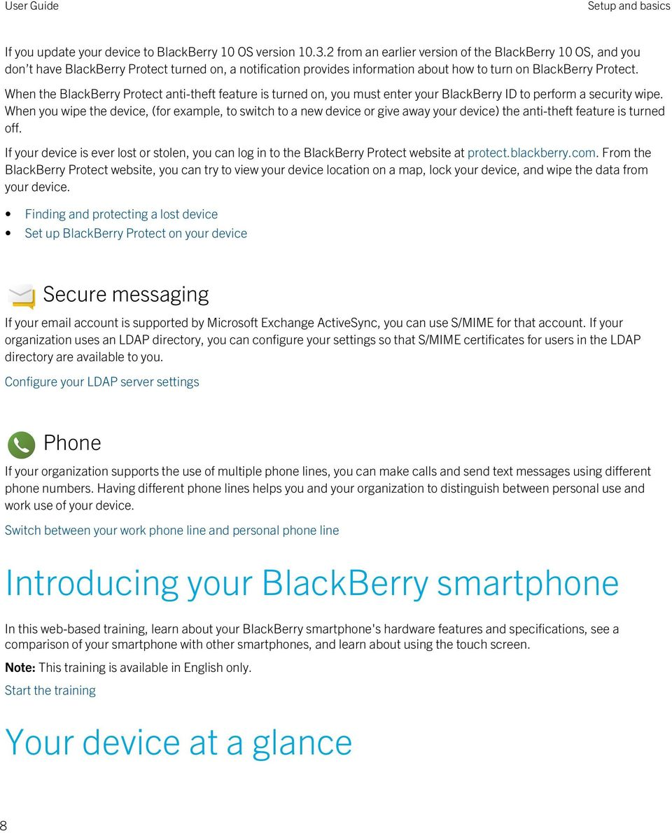 When the BlackBerry Protect anti-theft feature is turned on, you must enter your BlackBerry ID to perform a security wipe.