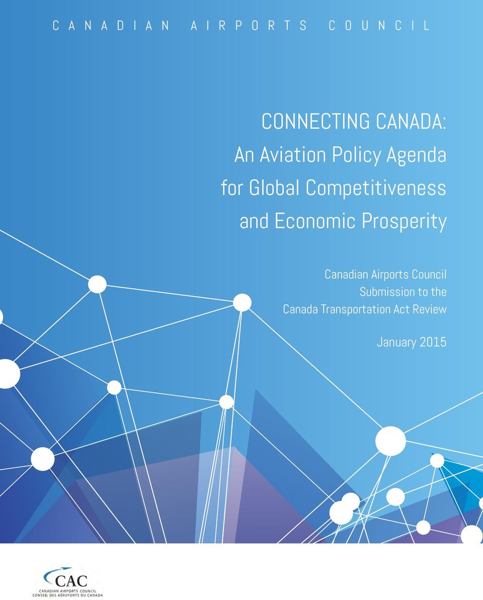 Competitiveness and Economic Prosperity Canadian Airports