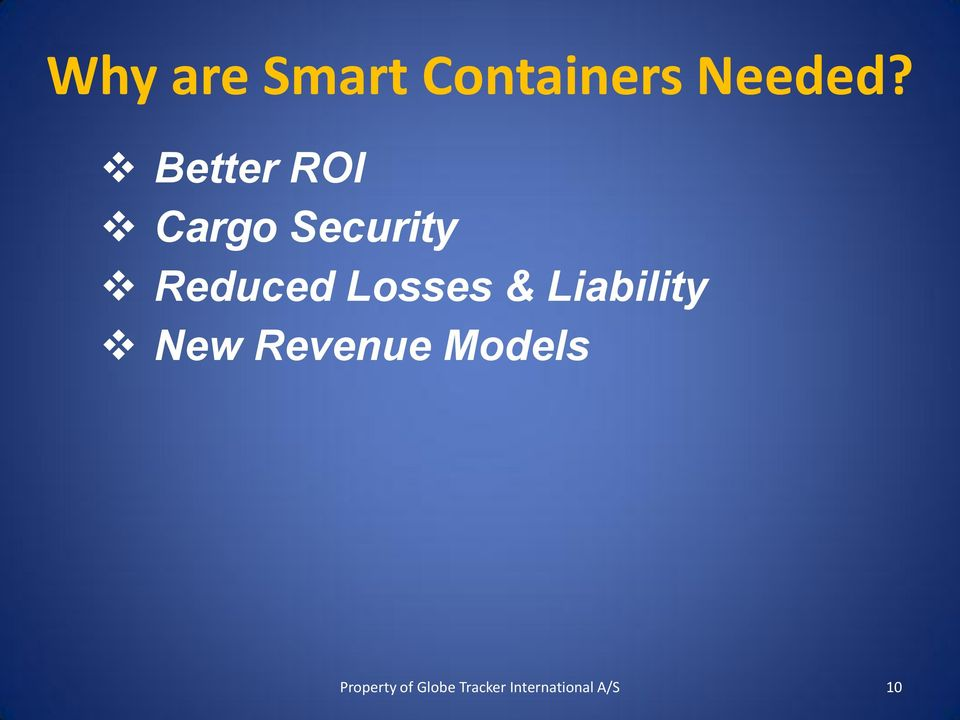 Better ROI Cargo Security