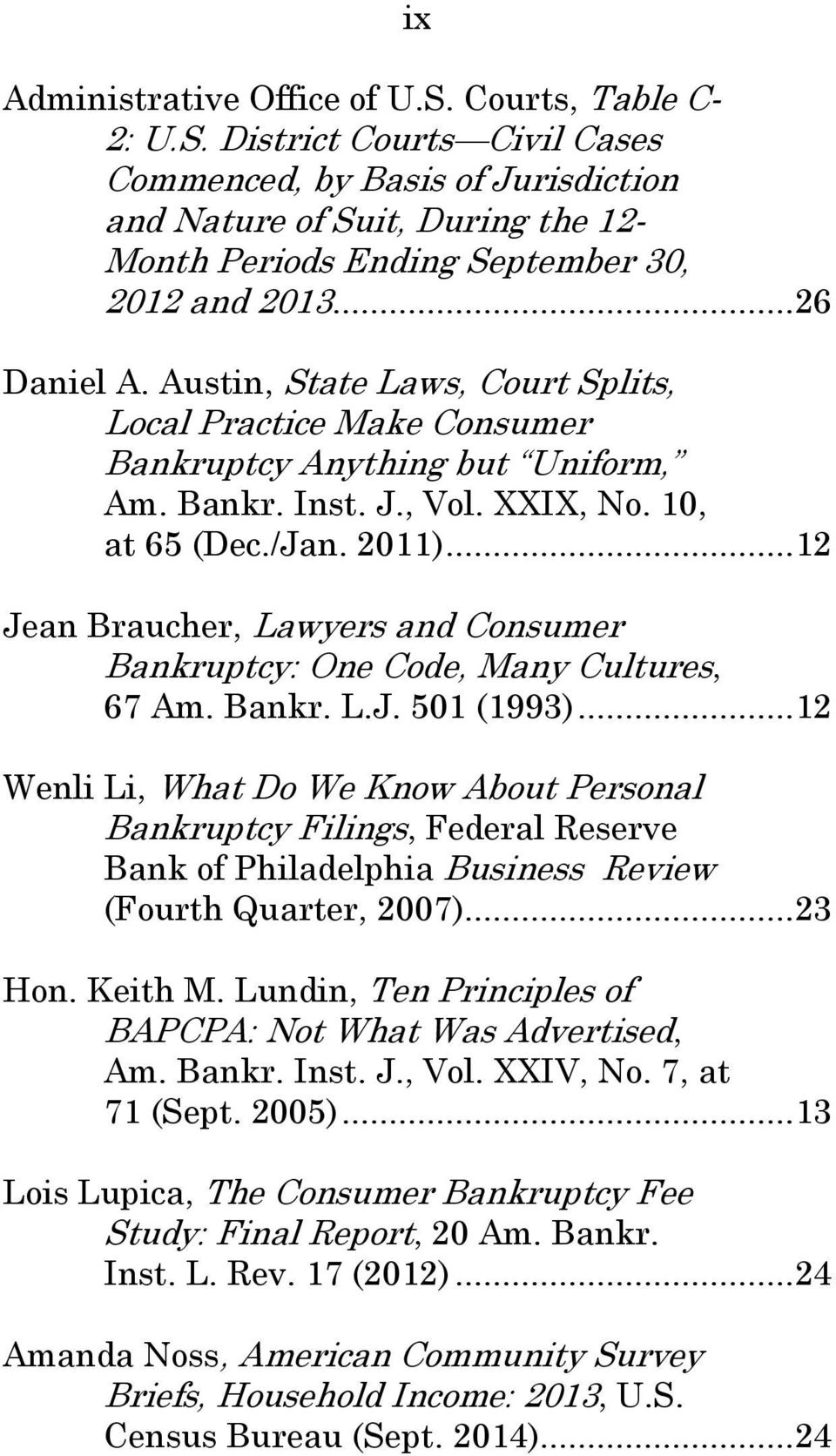 .. 12 Jean Braucher, Lawyers and Consumer Bankruptcy: One Code, Many Cultures, 67 Am. Bankr. L.J. 501 (1993).