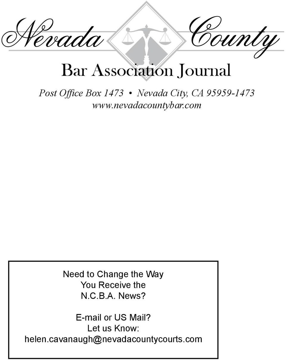 com Need to Change the Way You Receive the N.C.B.A. News?