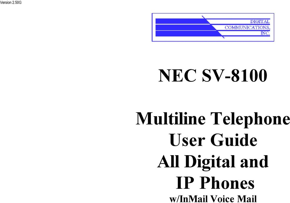 Telephone User Guide All