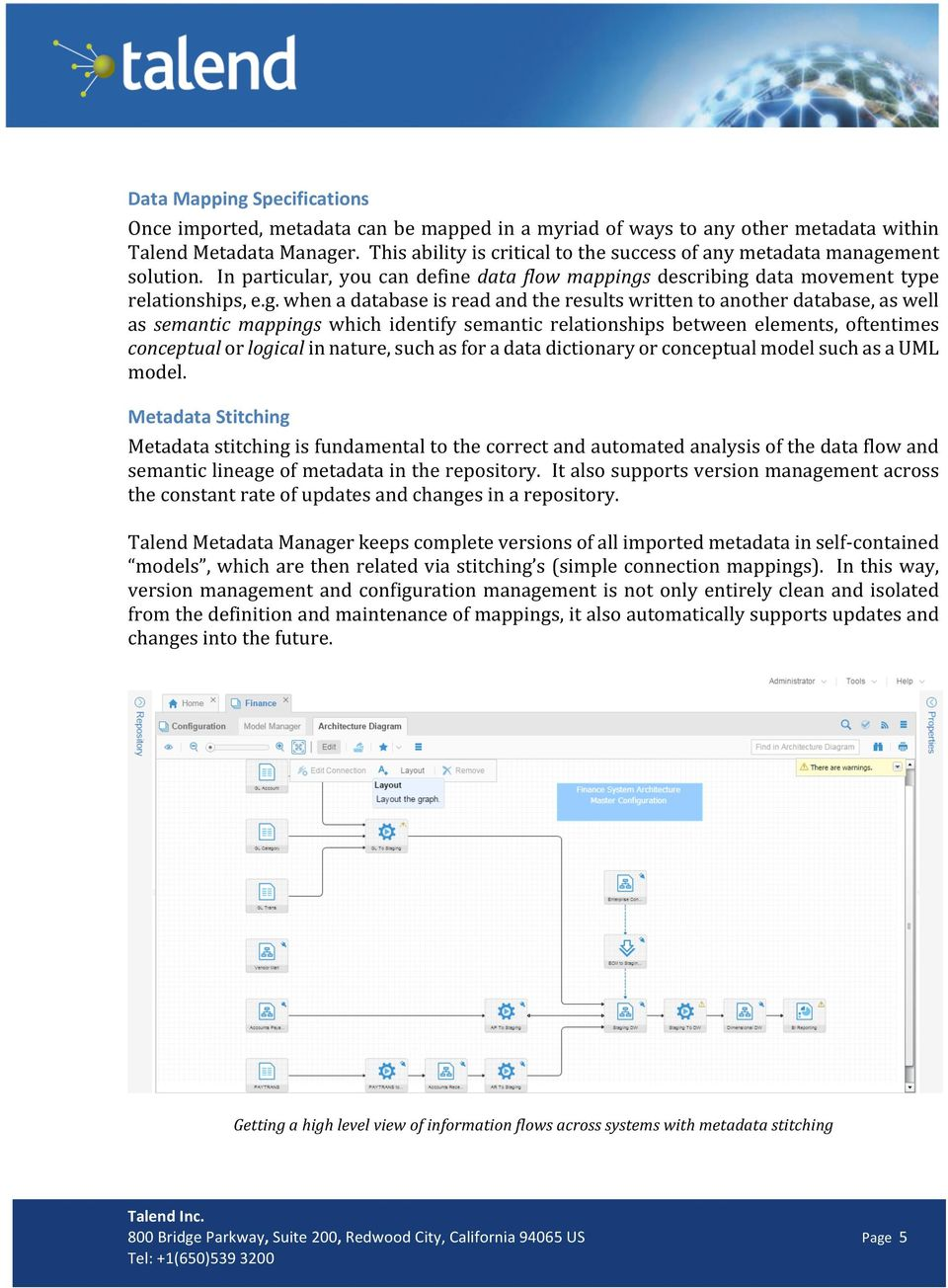 ment solution. In particular, you can define data flow mappings