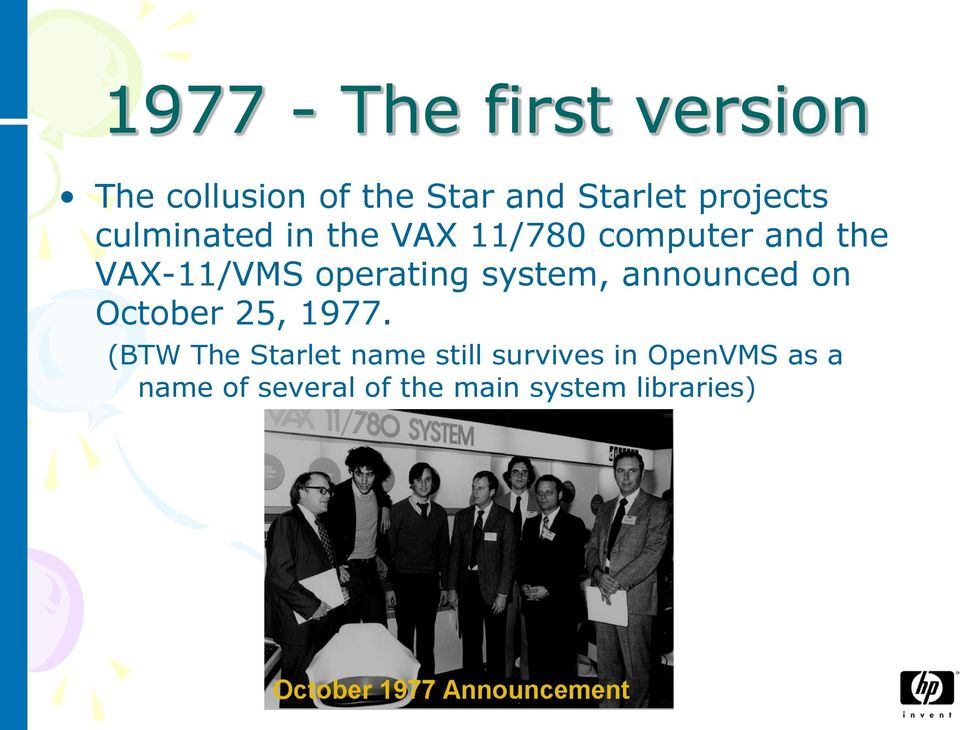 operating system, announced on October 25, 1977.