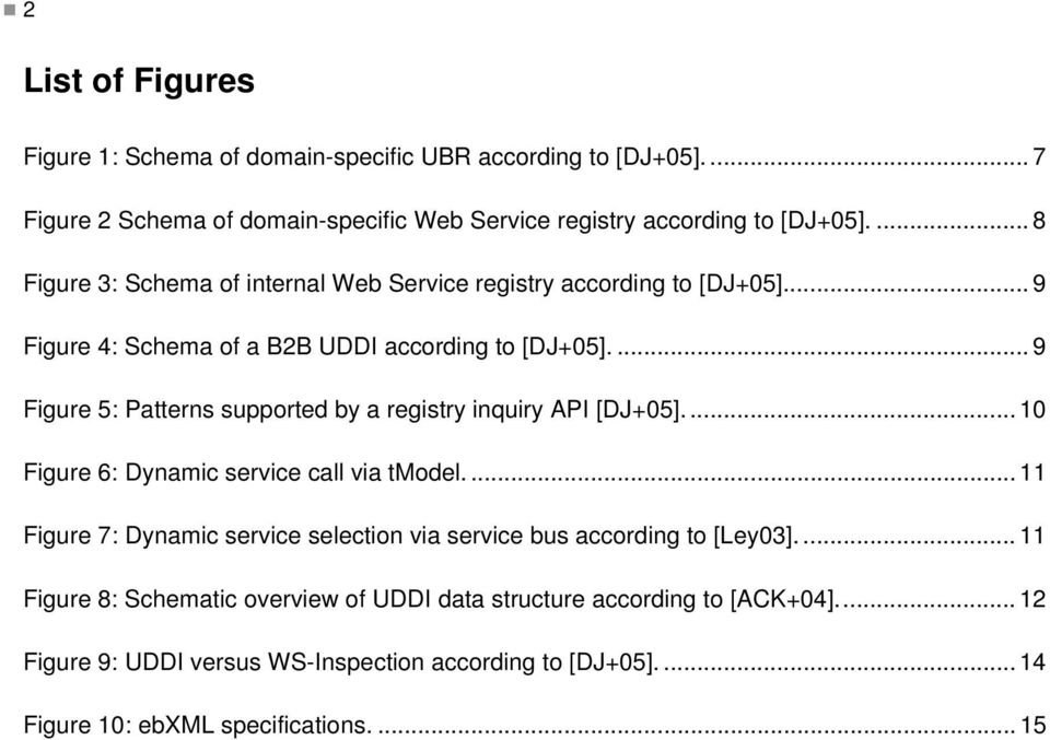 ... 9 Figure 5: Patterns supported by a registry inquiry API [DJ+05].... 10 Figure 6: Dynamic service call via tmodel.