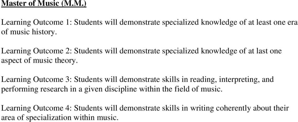 Learning Outcome 3: Students will demonstrate skills in reading, interpreting, and performing research in a given discipline