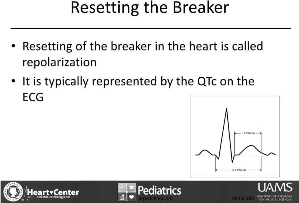 called repolarization It is