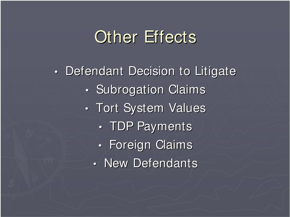 Subrogation Claims Tort System