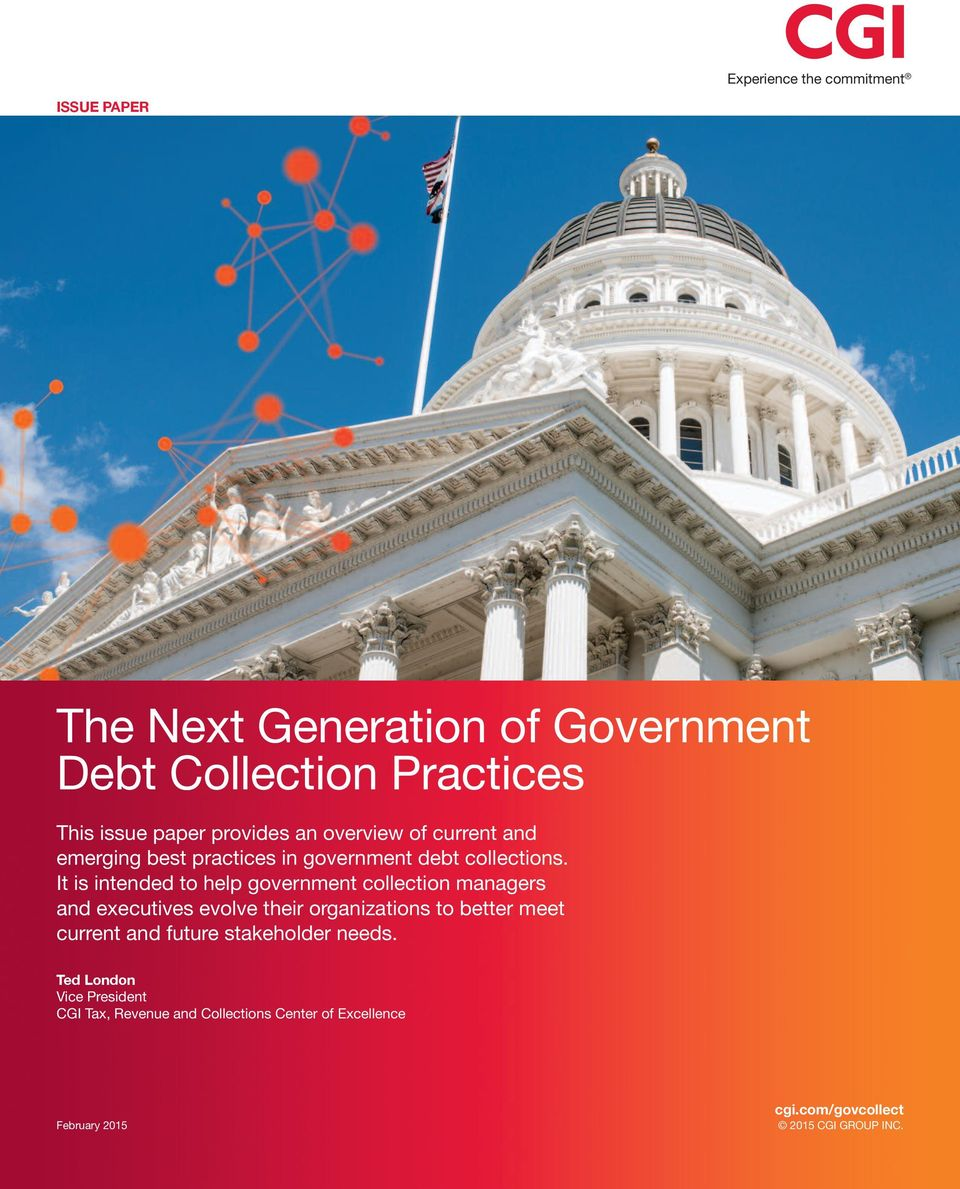 It is intended to help government collection managers and executives evolve their organizations to better meet current