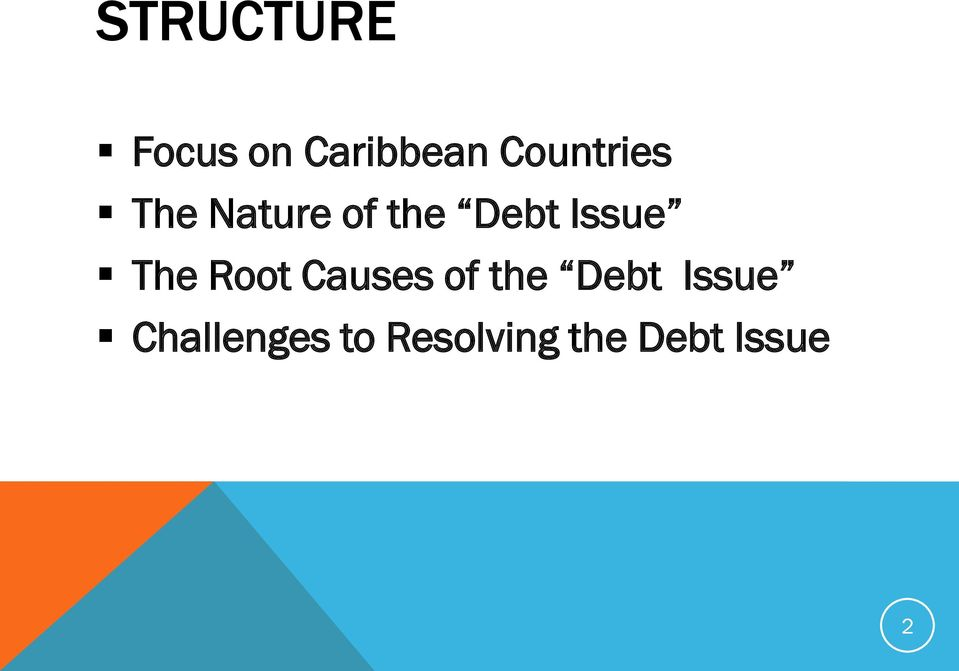 Issue The Root Causes of the Debt
