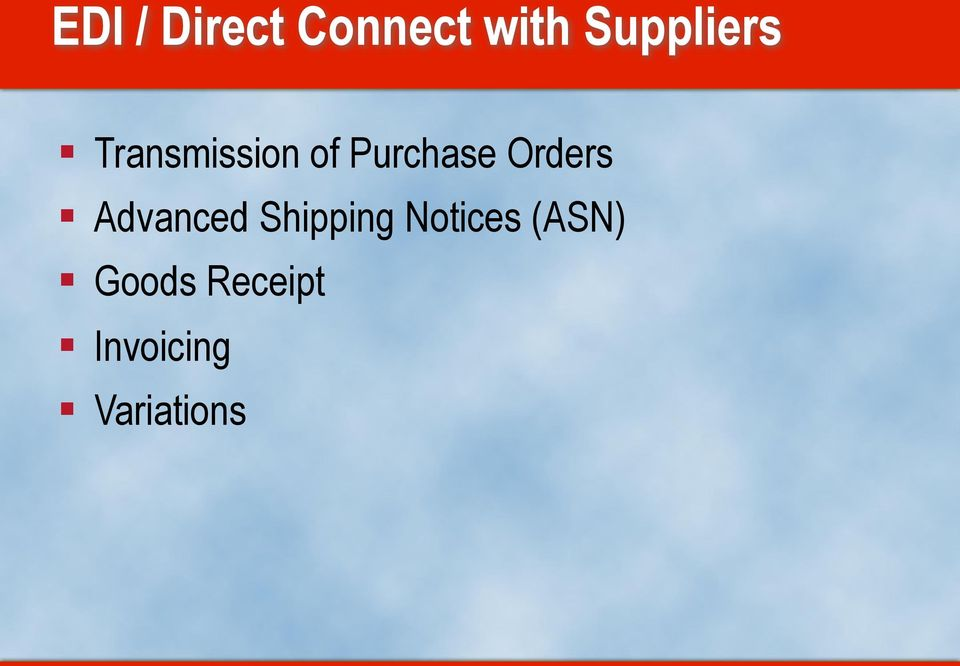 Purchase Orders Advanced Shipping
