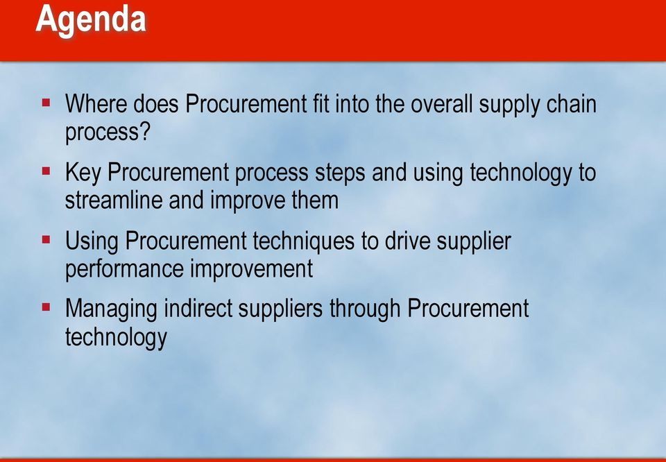 Key Procurement process steps and using technology to streamline and