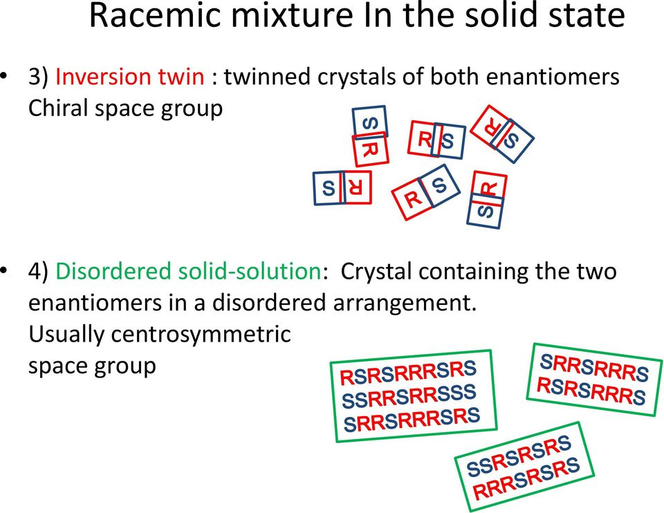 Disordered solid-solution: Crystal containing the two