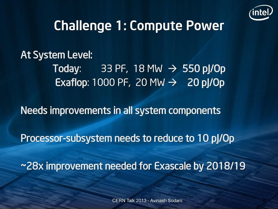 improvements in all system components Processor-subsystem
