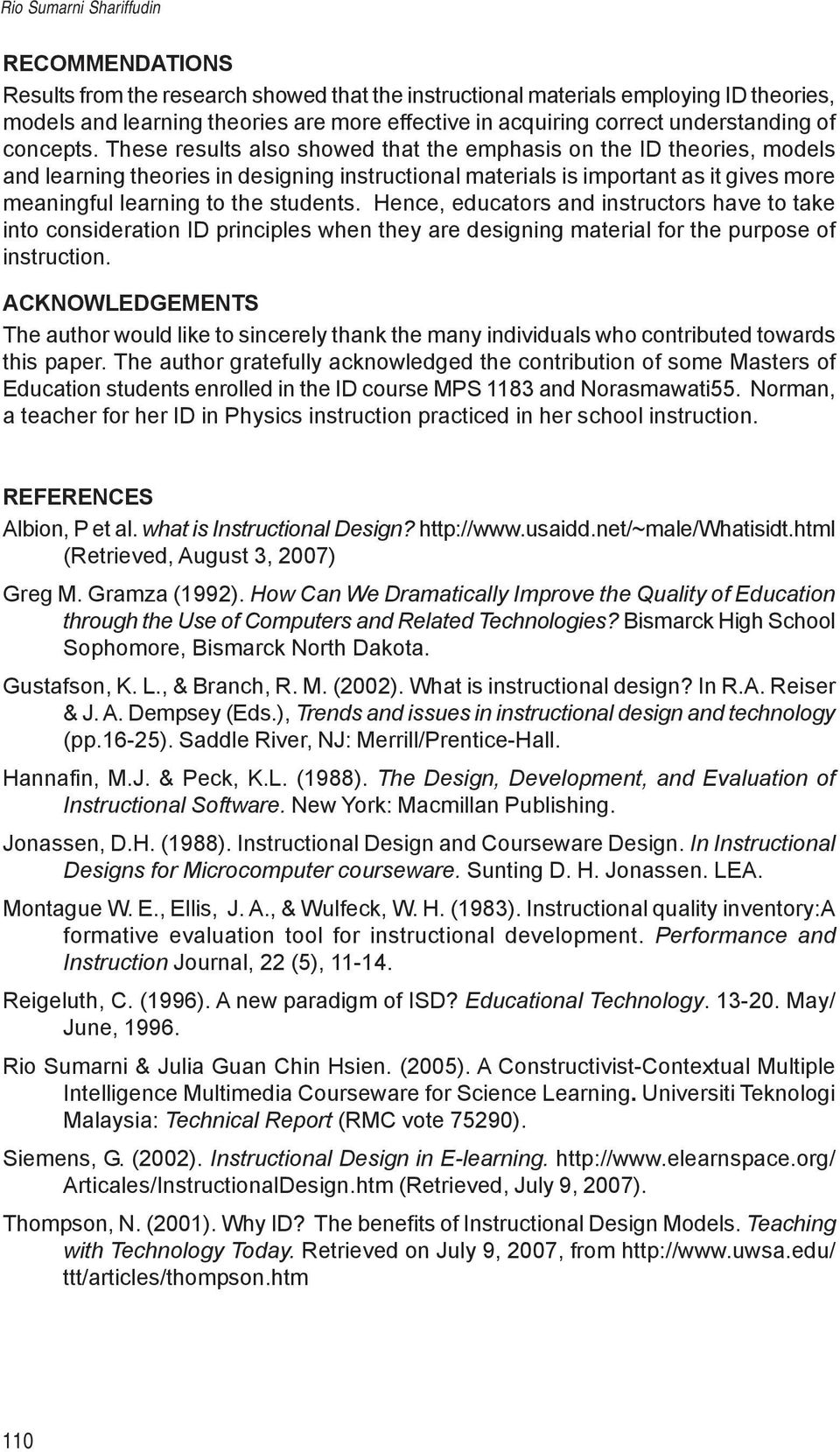 Design Of Instructional Materials For Teaching And Learning Purposes