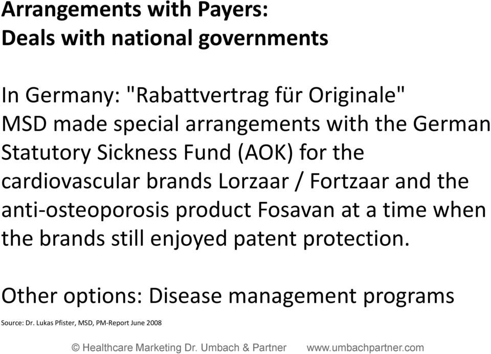 Lorzaar / Fortzaar and the anti osteoporosis product Fosavan at a time when the brands still enjoyed