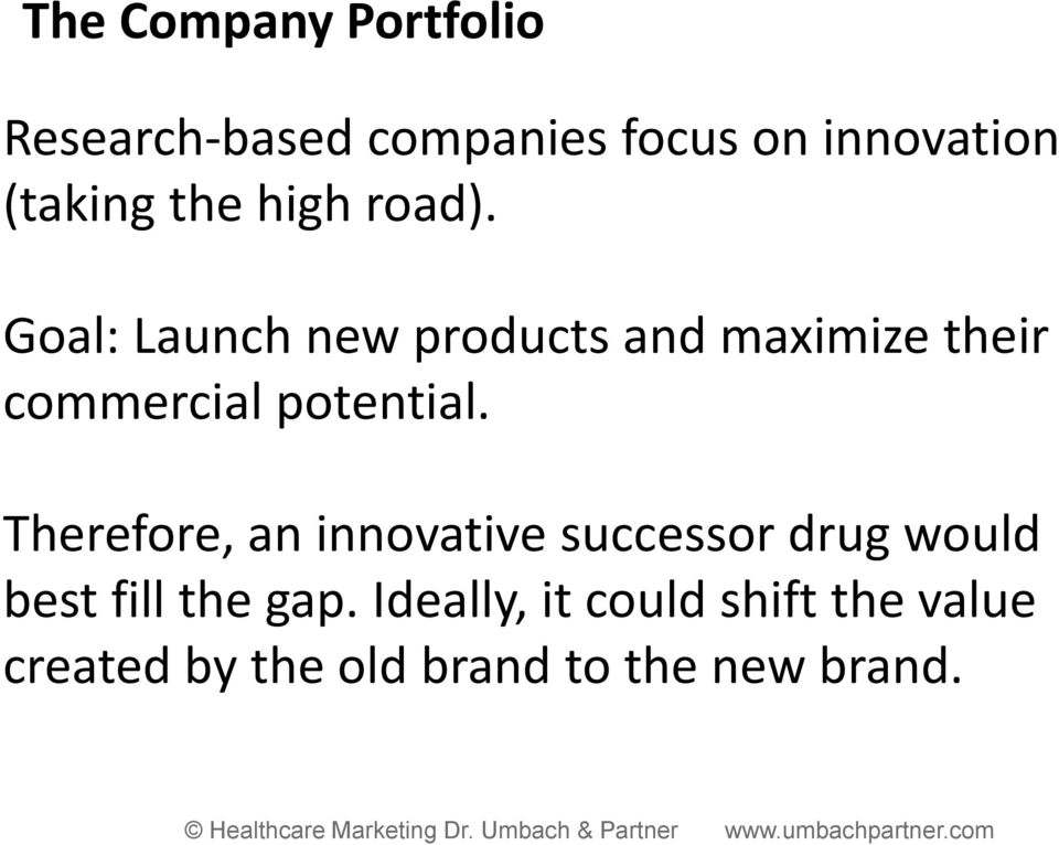 Goal: Launch new products and maximize their commercial potential.
