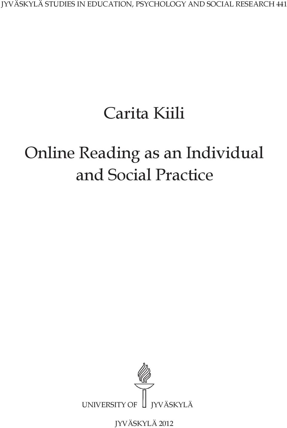Online Reading as an Individual and Social
