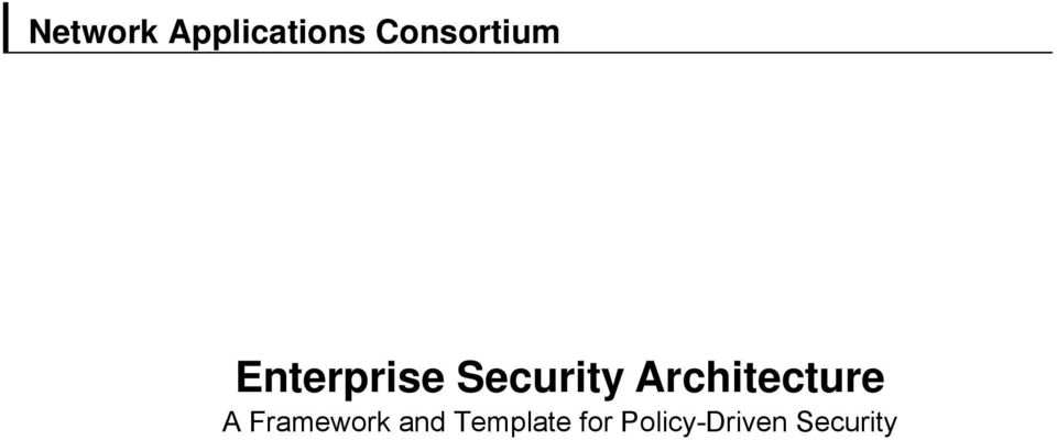 Security Architecture A