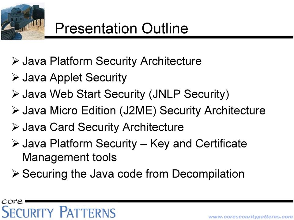 Security Architecture Java Card Security Architecture Java Platform