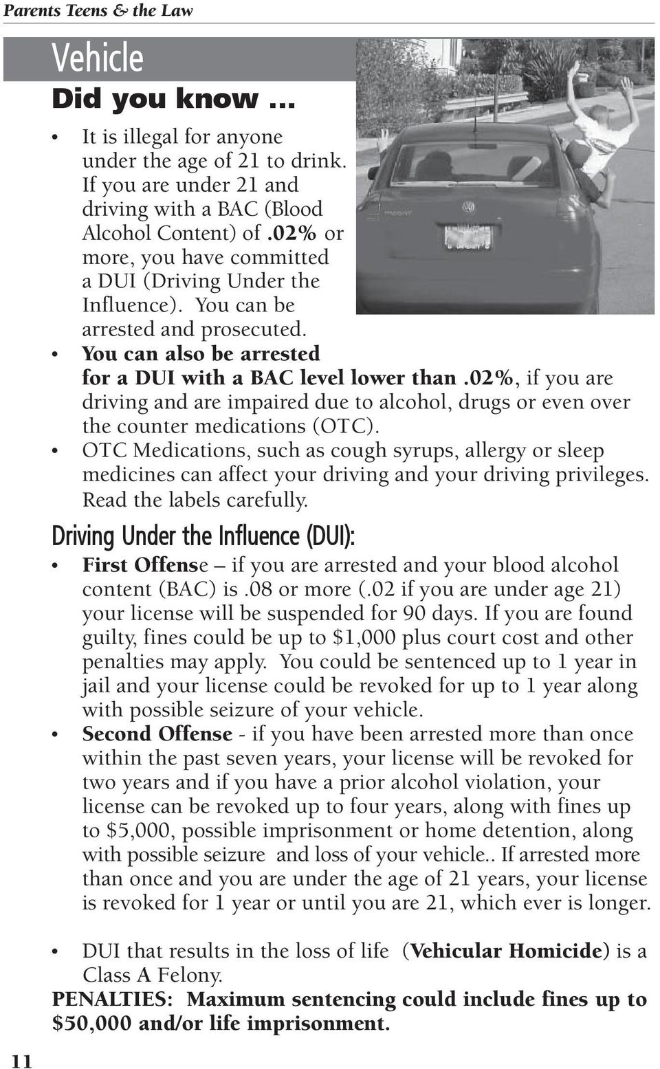 02%, if you are driving and are impaired due to alcohol, drugs or even over the counter medications (OTC).