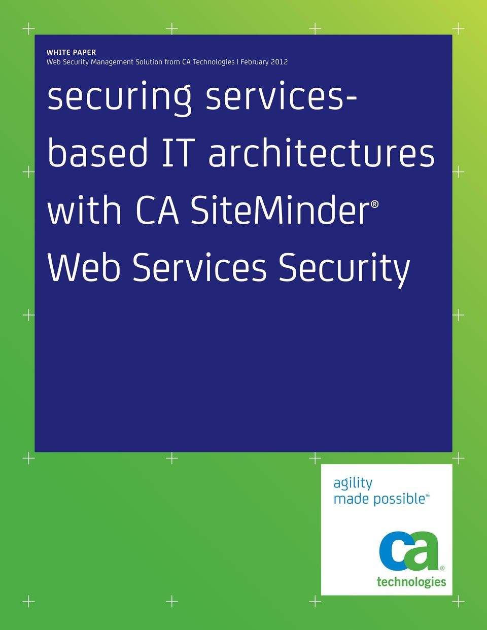 servicesbased IT architectures with CA